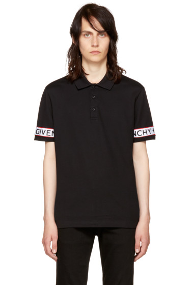 Givenchy - Black Logo Sleeve Polo
