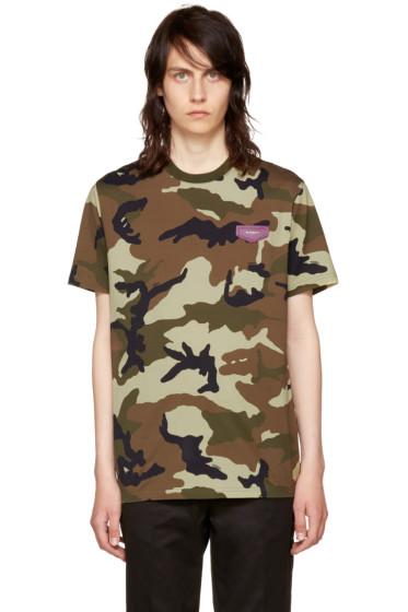 Givenchy - Khaki Camouflage T-Shirt
