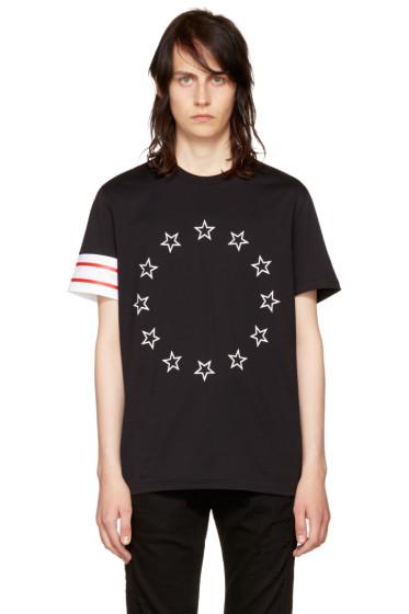 Givenchy - Black Circle Stars T-Shirt