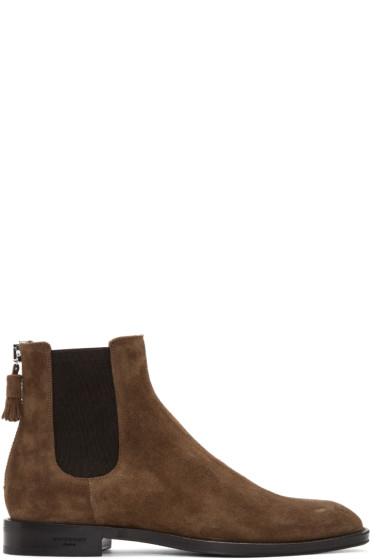 Givenchy - Brown Suede Chelsea Boots