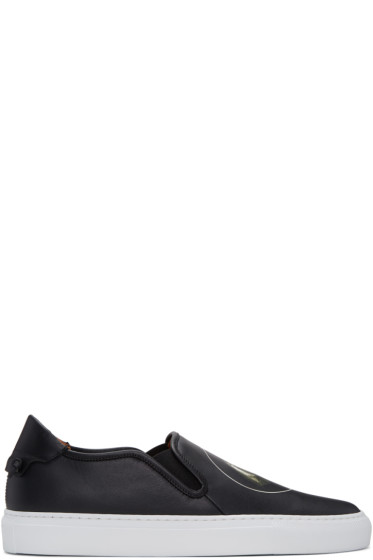 Givenchy - Black Monkey Brothers Slip-On Sneakers