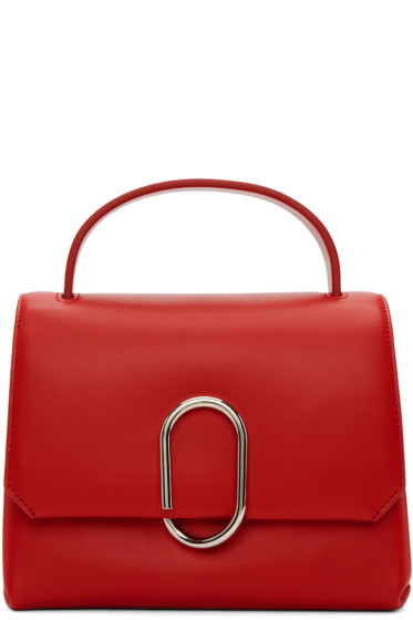 3.1 Phillip Lim - Red Mini Alix Top Handle Satchel