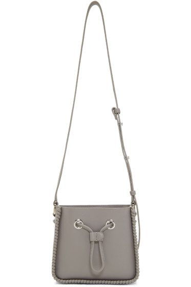 3.1 Phillip Lim - Grey Mini Soleil Bucket Bag