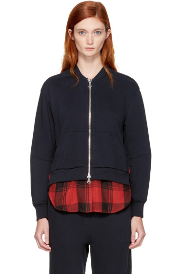 3.1 Phillip Lim - Navy Double Layer Zip Sweater