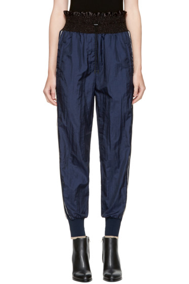 3.1 Phillip Lim - Navy Smocked Jogger Lounge Pants