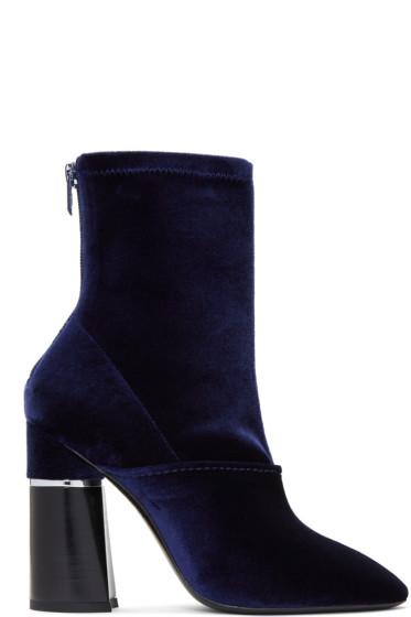 3.1 Phillip Lim - Blue Velvet Kyoto Boots