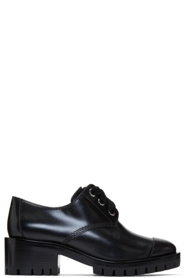 3.1 Phillip Lim - Black Lug Zipper Oxfords