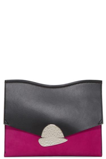Proenza Schouler - Pink & Black Medium Curl Clutch