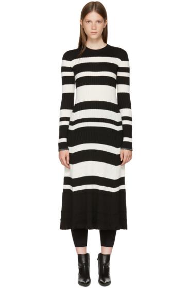 Proenza Schouler - ブラック & オフホワイト ストライプ ニット ドレス