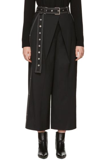 Proenza Schouler - Black Wool Wrap Culottes