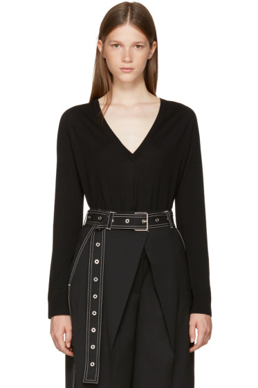 Proenza Schouler - Black V-Neck Pullover
