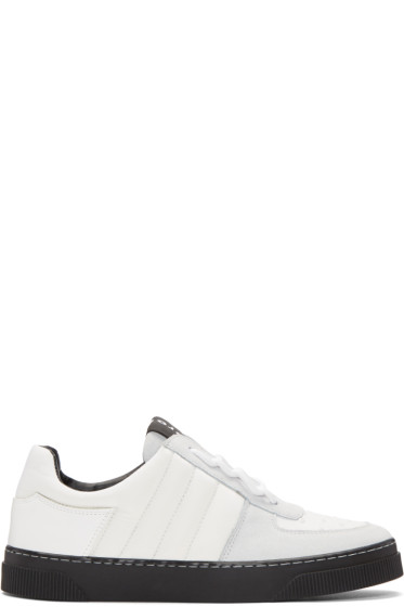 Proenza Schouler - White & Grey Lace-Up Sneakers