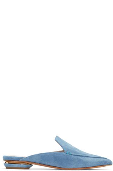 Nicholas Kirkwood - ブルー スエード ベイヤ ミュール