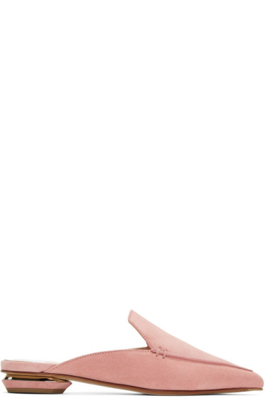 Nicholas Kirkwood - ピンク スエード ベイヤ ミュール