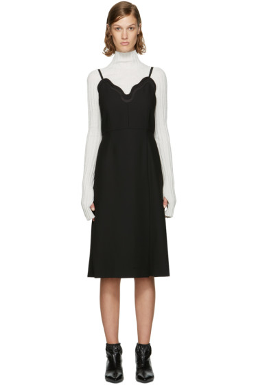 Carven - Black Scalloped Dress