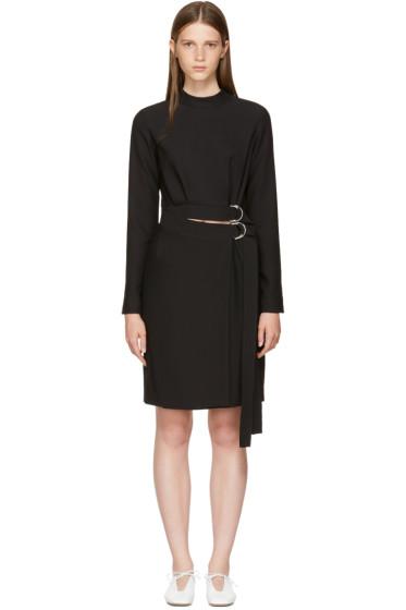 Carven - Black Double Belted Dress