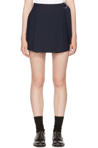 Carven - Navy Belt Sash Shorts