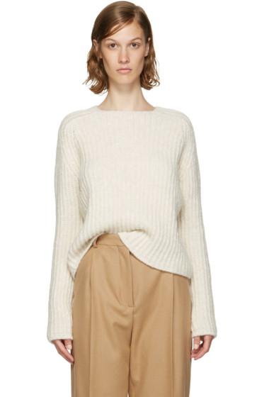 Carven - Ecru Purl Stitch Crewneck Sweater