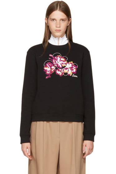 Carven - Black Embroidered Floral Sweatshirt