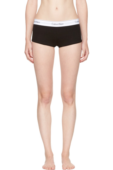 Calvin Klein Underwear - Black Modern Cotton Boy Shorts