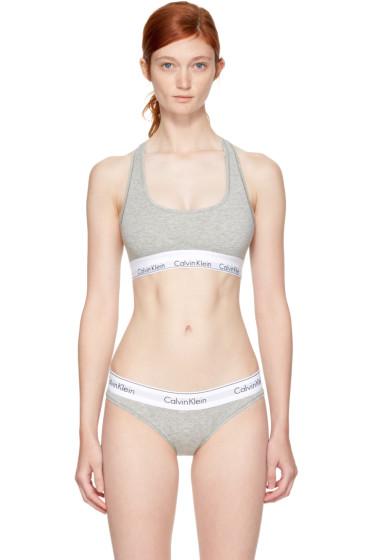 Calvin Klein Underwear - Grey Modern Cotton Bralette
