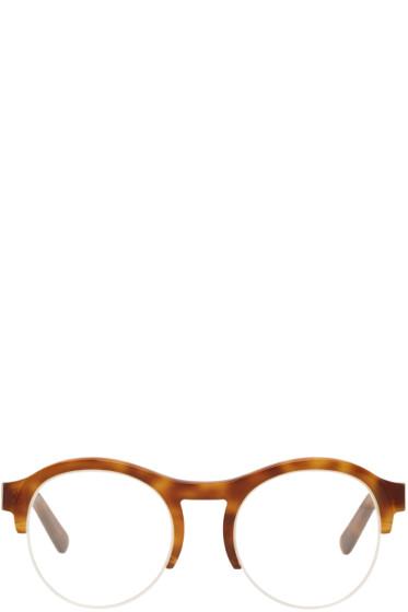 Chloé - Tortoiseshell Round Half Frame Glasses