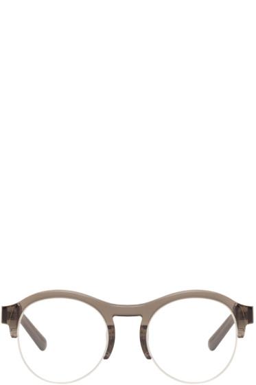 Chloé - Grey Round Half Frame Glasses