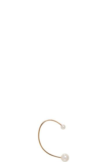 Chloé - Gold Darcey Pearl Ear Cuff