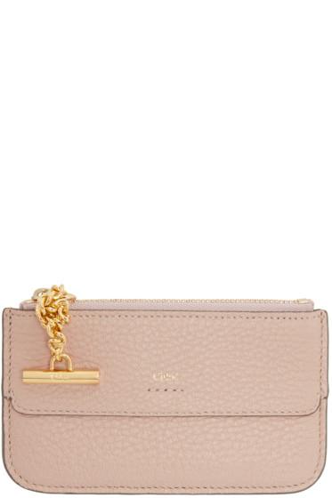 Chloé - Pink Drew Card Holder