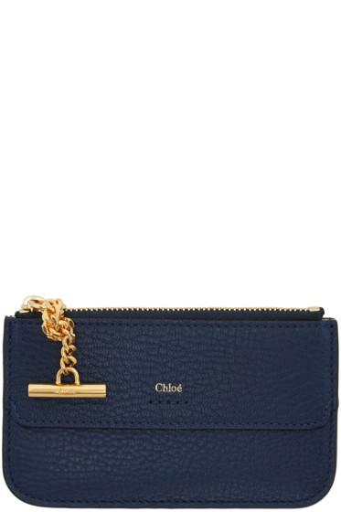 Chloé - Navy Drew Card Holder