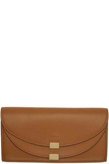 Chloé - Tan Long Georgia Flap Wallet