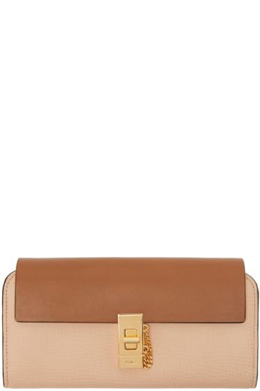 Chloé - Beige Long Drew Flap Wallet