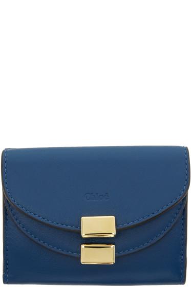 Chloé - Blue Mini Georgia Wallet