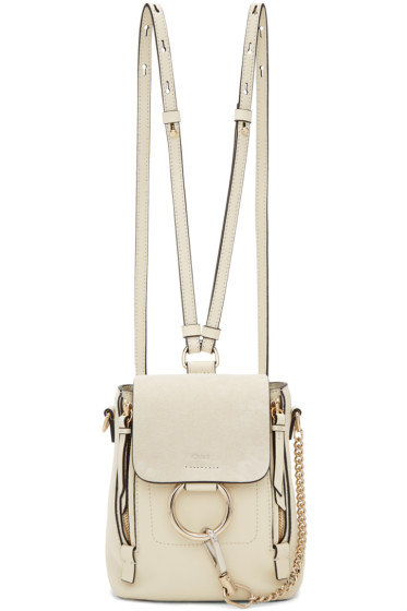 Chloé - Off-White Mini Faye Backpack