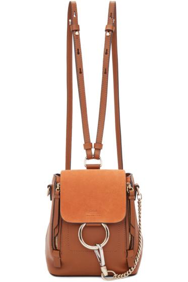 Chloé - Tan Mini Faye Backpack