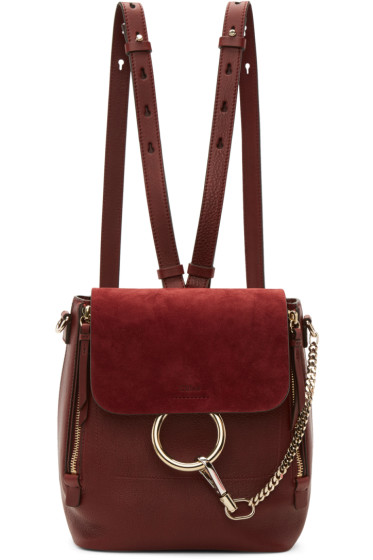 Chloé - Red Small Faye Backpack