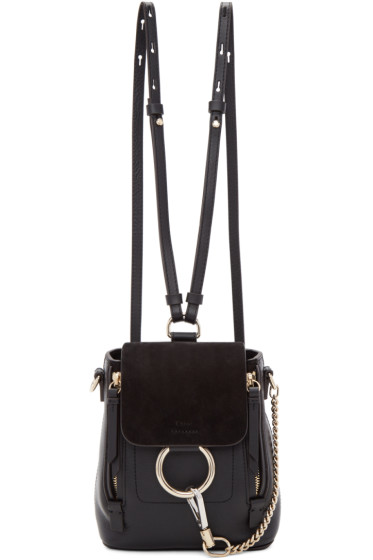 Chloé - Black Mini Faye Backpack