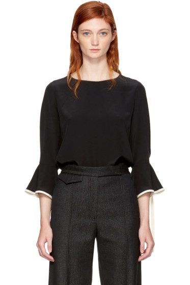 Chloé - Black & Ivory Silk Blouse