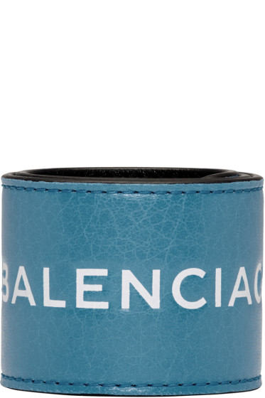 Balenciaga - Blue Cycle Logo Bracelet