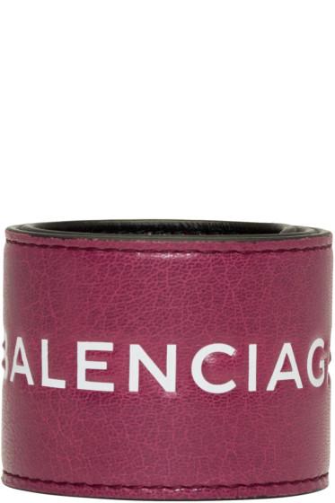 Balenciaga - Pink Cycle Logo Bracelet