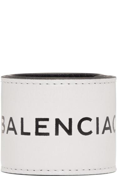 Balenciaga - White Cycle Logo Bracelet