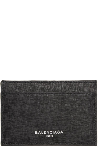 Balenciaga - Black Essential Single Card Holder