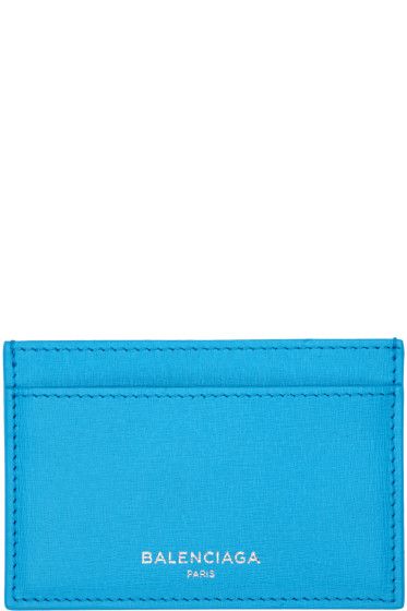 Balenciaga - Blue Essential Single Card Holder