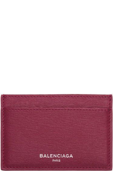 Balenciaga - Pink Essential Single Card Holder