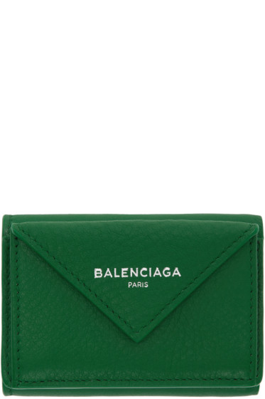 Balenciaga - Green Mini Paper Wallet