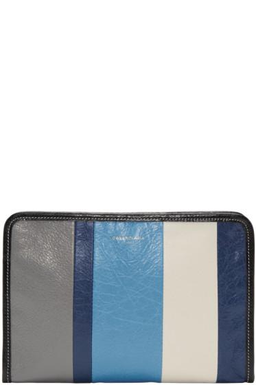 Balenciaga - Blue Bazar Mini Pouch