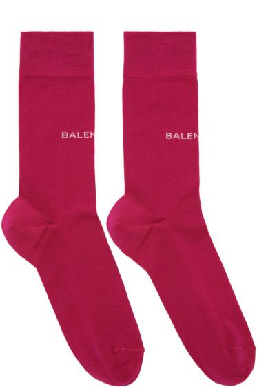 Balenciaga - Pink Logo Socks