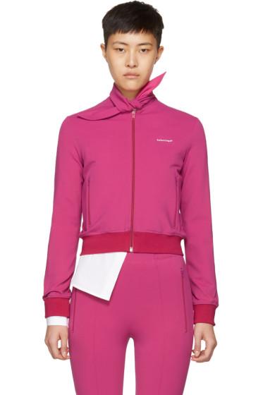 Balenciaga - Pink Scarf Jogger Track Jacket