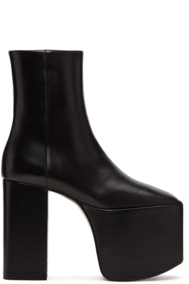 Balenciaga - Black Platform Boots