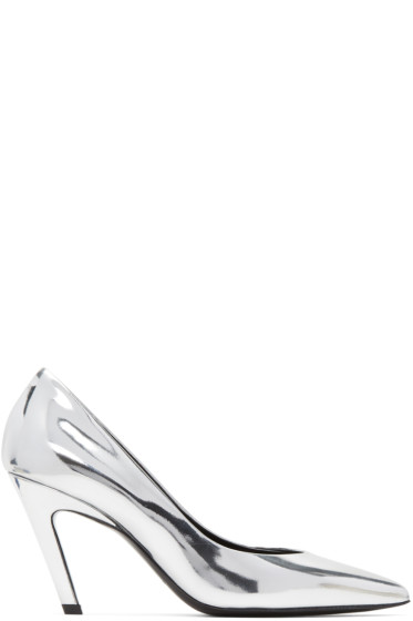 Balenciaga - Silver Classic Broken Mirror Heels